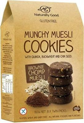 Naturally Good Munchy Muesli Cookie Brownie 160g Organic Gluten Free Health Food