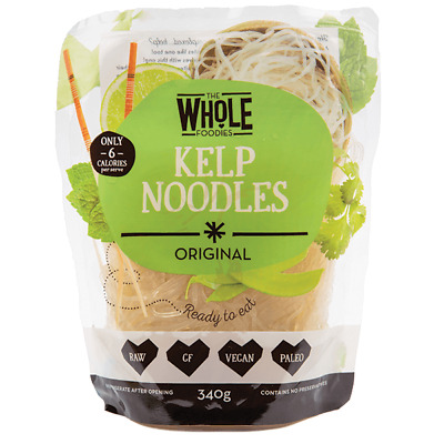 The Whole Foodies Kelp Noodles Original 340g Organic Gluten Free Health Food