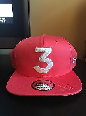 IN HAND!!! CHANCE The Rapper    3 New Era Cap Snapback Hat (Salmon ... 6cea516717d