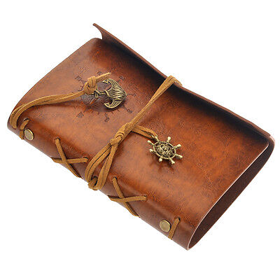 Notebook Journal Diary Retro Vintage Pirate leather PU Cover String Bound Blank