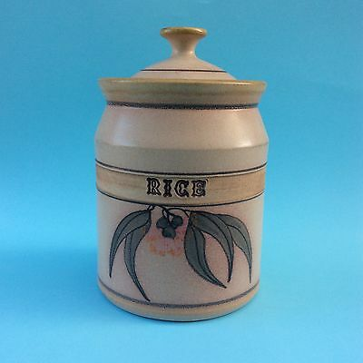 RETRO RICE JAR ECHUCA WHARF POTTERY CANISTER Gumnuts & Leaves Australiana NICE!