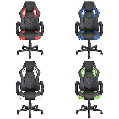 New Executive PU Leather Computer Gaming Deluxe Design Racing Office Chair