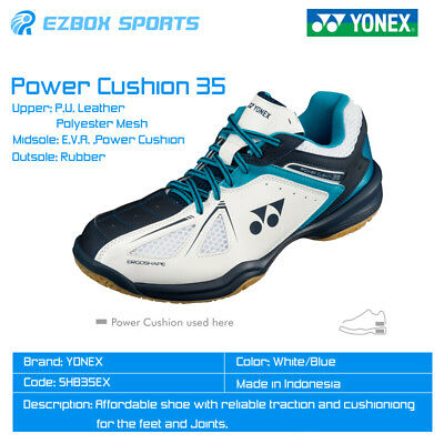█EZBOX SPORTS█ Yonex 2017 SHB35EX POWER CUSHION Badminton Shoes White/Sky Blue