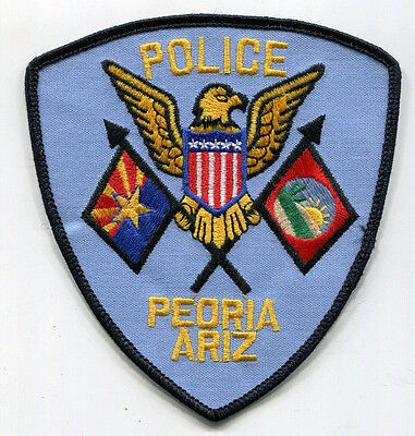 Vintage Peoria Arizona Police Patch /// OLD STYLE