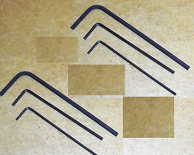 Set/6- 2 ea. .028 .035 & .050 inch Short Arm Hex Keys Allen Wrenches-Free Ship!