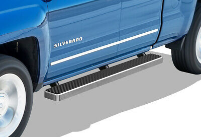 iBoard Running Boards 5 inches Fit 07-18 Silverado Sierra Double Cab
