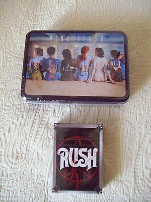 PINK FLOYD, RUSH & AC/DC items--Playing Cards, Buttons, T-shirt & Necklaces--New
