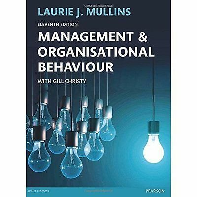management organisational behaviour Buy management & organisational behaviour 7 by laurie mullins (isbn:  8601300174181) from amazon's book store everyday low prices and free  delivery on.
