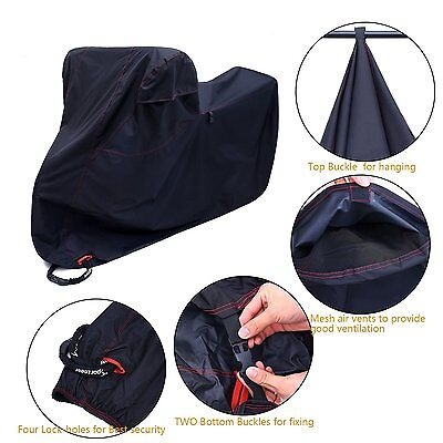 4 Lock-holes Oxford Large Sport Bikes Motorcycle Cover Waterproof Anti-theft