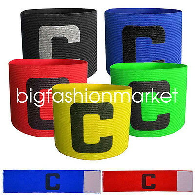 High Quality Soccer Basketball Adjustable Player Fluorescent Captain Armband