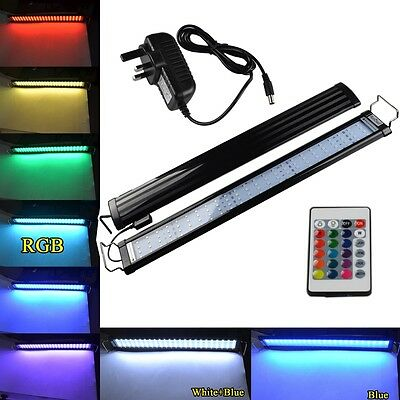 RGB/ White Blue Light Aquarium Fish Tank LED SMD Bar Lamp Submersible Lighting