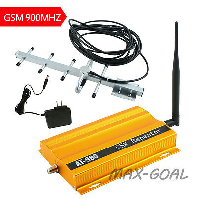 GSM 900MHz Mobile Phone Signal Booster Repeater Amplifier kit +Yagi Antenna US G