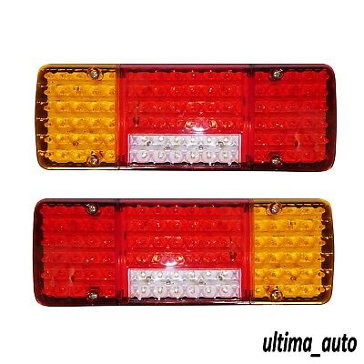 2X 12V 98 Led Trailer Truck Bus Van Stop Rear Tail Indicator Lights Reverse Lamp