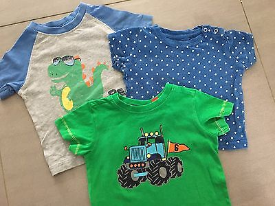 3 x Size 0 ~ Assorted Baby Boy Short Sleeved T-Shirts ~ All EUC!