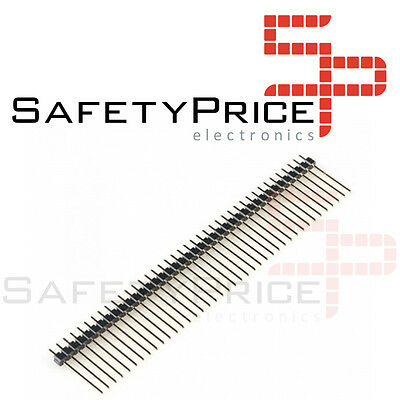 5 x Tira 40 Pines Macho 2,54 mm 19mm  Electronica Arduino single row pin header