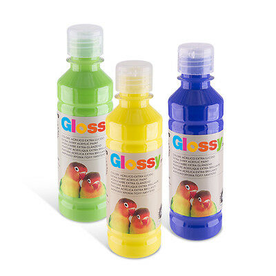 colore acrilico glossy 250 ml, morocolor, made in Italy