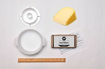 Gouda Hard Cheese Full Kit Making + Mold With Follower Large For 2.2lbs / 1kg