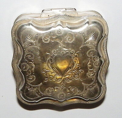 1800's Coin Silver snuff box pill box hall marked 'WH'