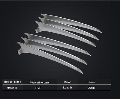 Adlut Children 2PCS X-MEN Wolverine Claws Hard Plastic Weapons Cosplay The Props