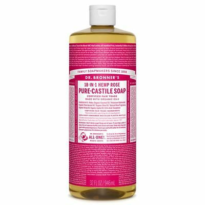 Dr Bronners - 18 in 1 Pure Castile Rose Liquid Soap