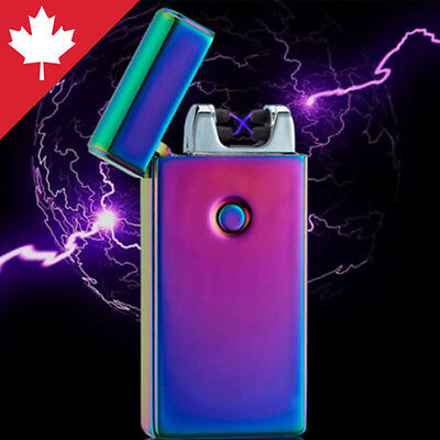 Plasma Lighter Dual Arc Electric Flameless Windproof Wind Proof USB Rechargeable