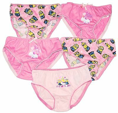 Girls Pants Briefs 5 Pack Minions Peppa Pig Ex Chain 2 3 4 5 6 Years