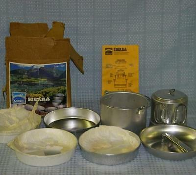 Mirro Sierra Compact / Light Weight Camp Set, Incomplete M-4311-35 Made In USA