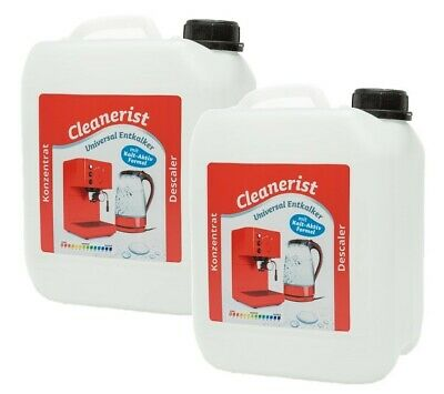 2x5 Litre Tassimo Bosch Descaling Coffee Maker Machine Descaler Cleaner Fluid