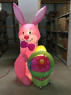 6ft Gemmy Airblown Inflatable Bunny With Animated Flower Prototype