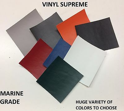 Premium Marine Vinyl Supreme Faux Leather Fabric Outdoor Auto Upholstery Bty 54""