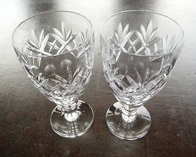 Two Royal Doulton cut glass crystal port/sherry/liqueur glasses, 7 available