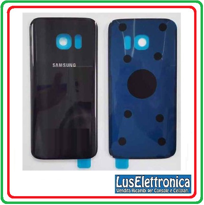 Vetro Posteriore Retro Back Battery Cover Scocca Glass Samsung S7 G930 Nero Blac
