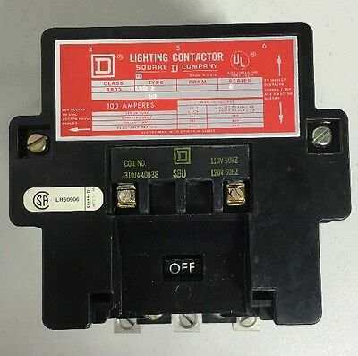 Square D Lighting Contractor Class 8903 Type SQO2 8903SQO2-V02