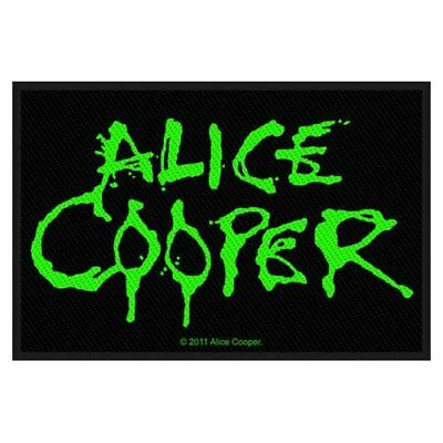 Alice Cooper Standard Patch Black Green Sew On Woven Official Heavy Metal Rock