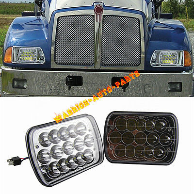 For Kenworth T300 LED Headlights Headlamps High/Low Beam Bulb Kit 1997-2010 Pair