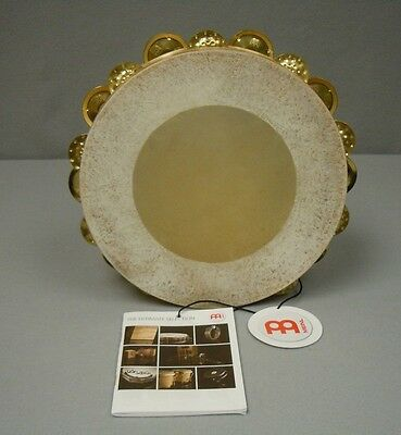 "Meinl 10"" Artisan Calf Head Maple Wood Tambourine with Brass Jingles -NEW"