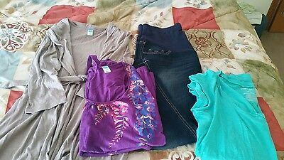 4pc old navy M maternity spring clothes lot