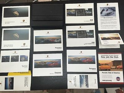 Porsche Panamera 2011 Owners Manual Books- Navigation - Luxe Case/ Free Shipping