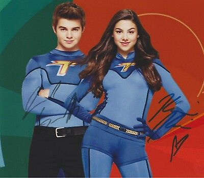 The Thundermans Kira Kosarin Jack Griffo EXTREMELY RARE DUEL-SIGNED RP 8x10 WOW!