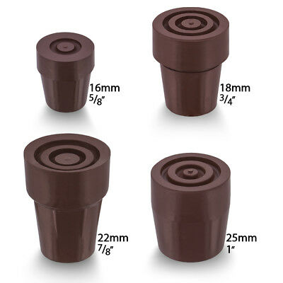 Brown Steel Inserted Cane Rubber Tip (Ferrule) - Choose from 16/18/22/25 mm
