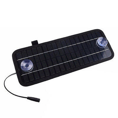 12V 4.5W Portable Power Solar Panel Battery Charger For Car Boat Motorcycle K7U4