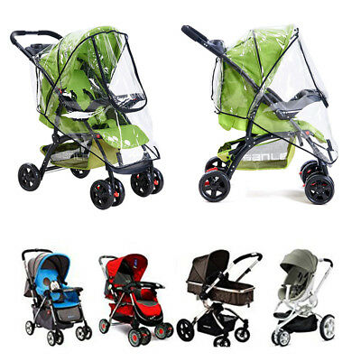 Rain Cover Raincover For Universal Buggy Pushchair Stroller Pram Baby Car Xmas