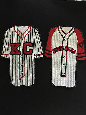 Jackie Robinson & Satchel Paige Negro League jersey styled patches-The CLASSIC'S