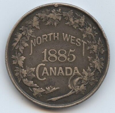 Canada North West 1885 Medal (#921) No Ribbon and Bar is Removed. Gouge