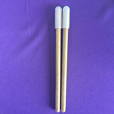 Steel drum mallets w/ rubber tip - 6 inches only - Perfect for small drums!!!