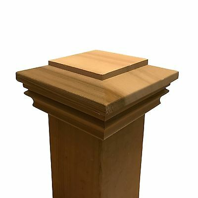"Cedar Plateau Wood Post Cap for 3.5"" x 3.5"" Fence and Deck Posts"