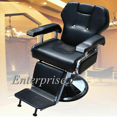 Hydraulic Reclining Hairdressing Black Barber Salon Chair Shaving