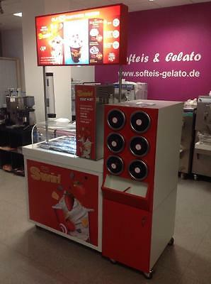 Eistheke ola happiness station komplett Neu ,eiscafe, frozen yogurt, Eisvitrine