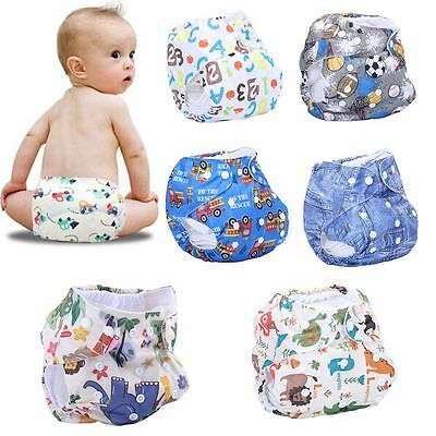 Reusable Kids Adjustable Cloth Diapers Cover Washable Baby Nappy