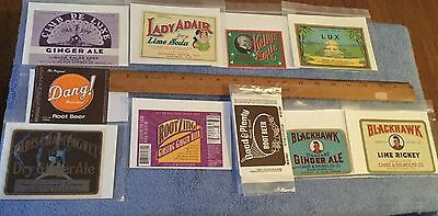 Vintage Soda Label Lot 10